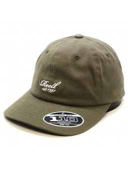 REELL curved Scrip olive Cap