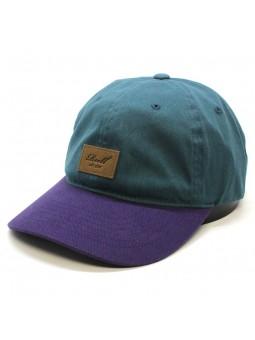 Gorra REELL curved tone azul petroleo/lila