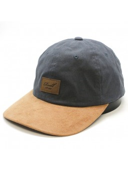 Gorra REELL curved suede carbón
