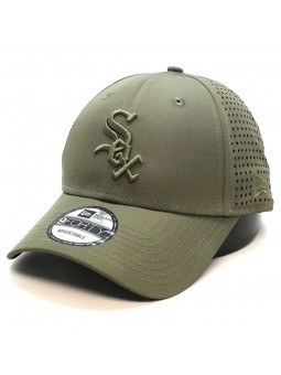 Gorra Chicago White SOX MLB Feather perf 9FORTY New Era verde oliva