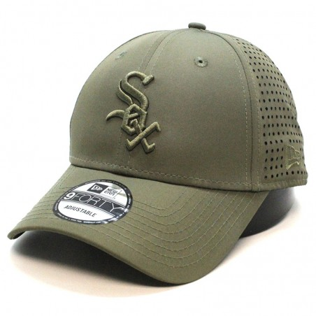 Chicago White SOX MLB Feather perf 9FORTY New Era olive Cap