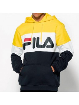 Sudadera de capucha FILA Night blocked amarillo/blanco/negro