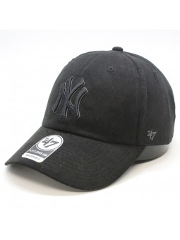 Gorra New York YANKEES suede Clean up MLB 47 Brand negro