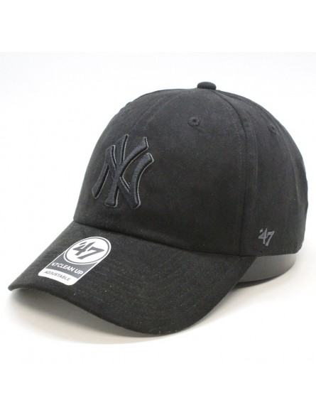 Gorra New York YANKEES suede  Clean up MLB 47 Brand negro