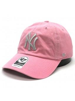 Gorra New York YANKEES Clean up MLB 47 Brand rosa/plata