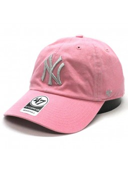 New York YANKEES Clean up MLB 47 Brand pink/silver Cap