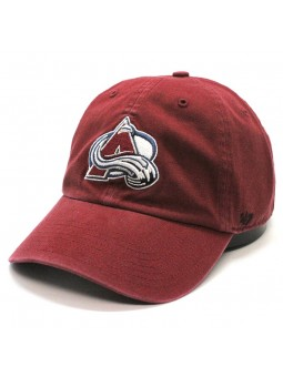Gorra Colorado AVALANCHE Clean up NHL 47 Brand granate