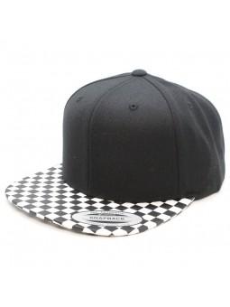 Chekerboard FLEXFIT Snapback black cap (6089CB)