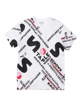 Camiseta all over STAPLE blanco