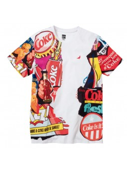 Camiseta coke collage STAPLE blanco