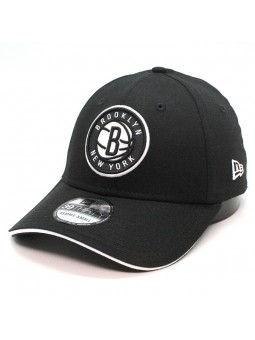 Brooklyn NETS team 39THIRTY NBA New Era black Cap