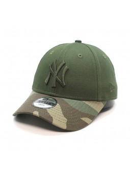 Gorra de niño New York YANKES MLB Camo 9FORTY New Era verde oliva