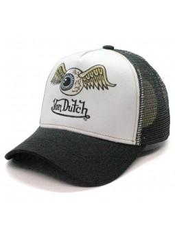 Gorra de rejilla Von Dutch WHI blanco/negro