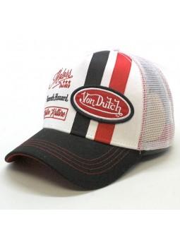 Gorra de rejilla Von Dutch MCQ blanco/negro