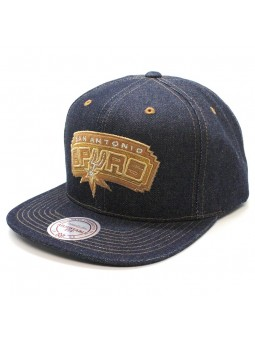 San Antonio SPURS NBA Dark Denim Mitchell & Ness Cap