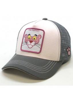 Gorra de rejilla PANTERA ROSA rosa/gris