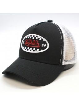 Gorra de rejilla Von Dutch FIN negro/blanco