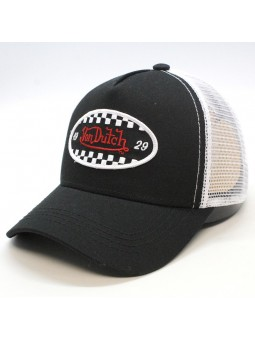 Von Dutch FIN black/white Cap