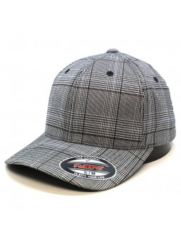 FLEXFIT 6196 Glen Check Black/White Cap