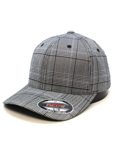 Gorra FLEXFIT 6196 Glen Check negro/blanco