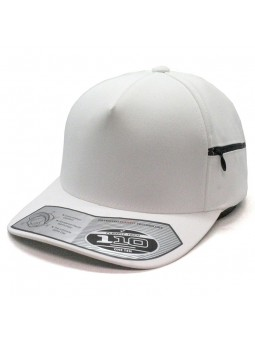 FLEXFIT 110ZP Pocket Adjustable white Cap