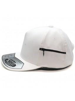 Gorra FLEXFIT 110ZP Pocket Ajustable blanco