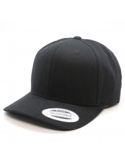 FLEXFIT 7708MS Curved Metal Snap Black Cap