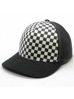 Gorra de rejilla FLEXFIT 6506CB Checkerboard Retro negro