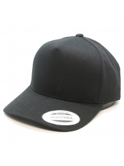 FLEXFIT 7707 5-panel curved classic snapback Black Cap