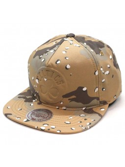 Gorra Boston CELTICS NBA Mitchell and Ness 247 marron camuflaje