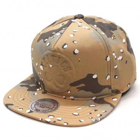 Boston CELTICS NBA 247 Mitchell and Ness brown camouflage cap