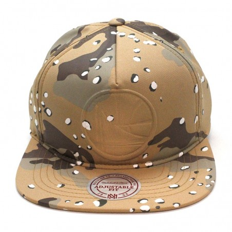 Golden State WARRIORS NBA 247 Mitchell and Ness brown camouflage cap