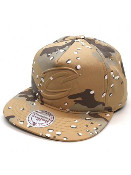 Cleveland CAVALIERS NBA 247 Mitchell and Ness brown camouflage cap