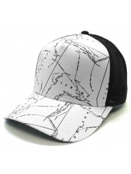 Black and White Map Texture Cap Top Hats Trucker New Style Fashion
