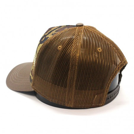 Gorra TOP HATS Rapper Cotton camel marrón blanco