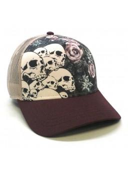 SKULLS & ROSES TOP HATS Rapper Cap