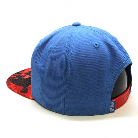 Gorra de niño SUPERMAN printed visor royal/rojo