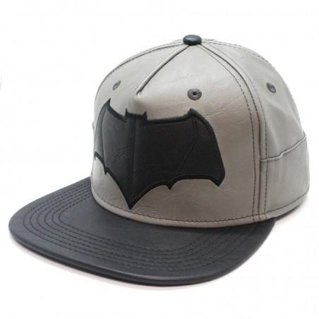 Gorra BATMAN de piel gris/negro
