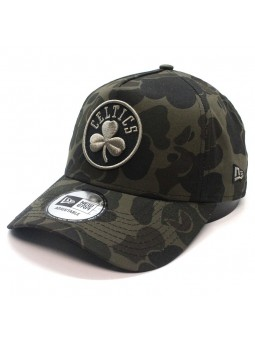 Boston CELTICS NBA Camo Aframe New Era olive Cap