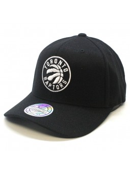 Toronto RAPTORS NBA Black & White 1033 Mitchell & Ness black Cap