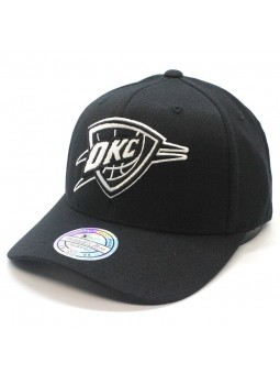 Gorra Oklahoma City THUNDER NBA Black & White 1033 Mitchell & Ness negro