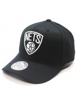 Brooklyn NETS NBA Black & White 1033 Mitchell & Ness black Cap