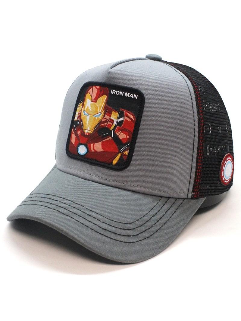Gorra de rejilla IRONMAN Avengers de color gris/negro