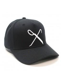 Gorra KING Hardgraft curved negra logo blanco