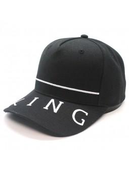 KING Leyton curved black Cap