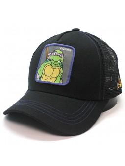 "Gorra de rejilla Tortugas Ninja Mutantes DONATELLO ""DONNIE"" negro"
