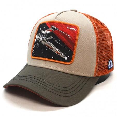 X- WING STAR WARS khaki/orange trucker Cap