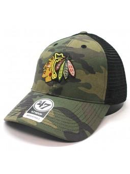Gorra Chicago Blackhawks NHL 47 brand trucker camuflaje verde oliva