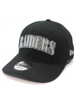 Oakland Raiders NFL Pre Curved 9fifty New Era Black Cap