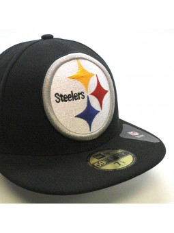 Gorra Pittsburgh STEELERS 59FIFTY Mighty Player NFL New Era negro